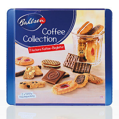 Bahlsen Coffee Collection Dose, 2 x 500g Serviersets mit 11 Sorten