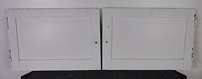 Antique Vintage Pair Cabinet Doors 1920's Painted