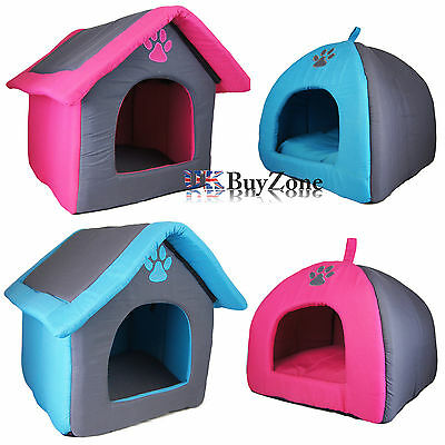 Portable Travel Folding Dog Pet House Kennel Carrier Cat Puppy Soft Cushion Bed