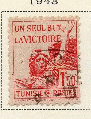 Tunisia 1943 Early Issue Fine Used 1F.50c. 144850