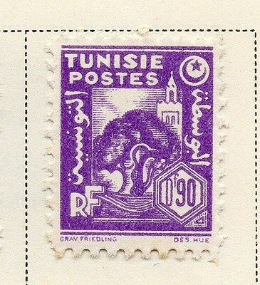 Tunisia 1943-45 Early Issue Fine Mint Hinged 90c. 144877