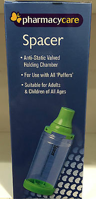 PHARMACY CARE SPACER asthma /COPD - for ADULTS / CHILDREN fits ALL PUFFERS