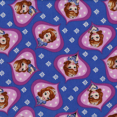 Sofia The First Girls Kids Licensed Quilt Fabric FQ or Metre *New*