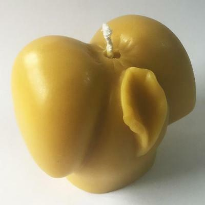 ORGANIC Yellow Pure Beeswax Cosmetic Grade Filtered Sexy Butt Vagina Candle M