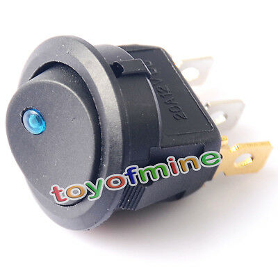 LED 12V 20A Coche Barco Camión Rocker Toggle ON / OFF interruptor unipolar