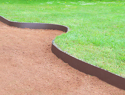 Smartedge Easy Lawn Edging Brown Border Fence Garden Neat Landscaping Plastic