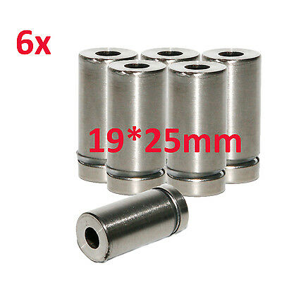 6x Stainless Steel 19*25mm Advertise Glass Standoff Pin Fixing Mount Bolt Nails