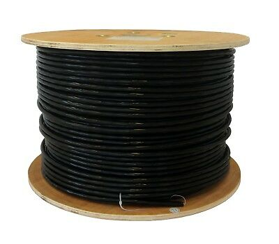 Cat 6 Solid PE External Cable Black 100m Reel 100% Copper Networking Ethernet