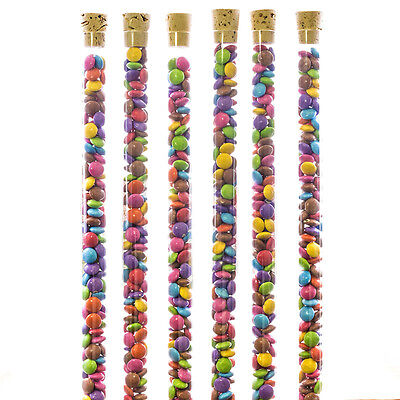 25 x Novelty Sweet Fillable Tubes Cork Test Tube Containers Packaging Fairground