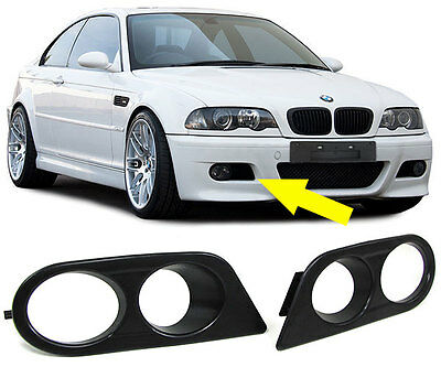 Fog Light Covers For Bmw E46 3 Series Coupe Convertible Saloon Estate M3 Bumper