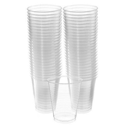 Party Bbq Catering Supplies Bulk Pack Of 50 Clear Plastic Cups Tumblers 473Ml
