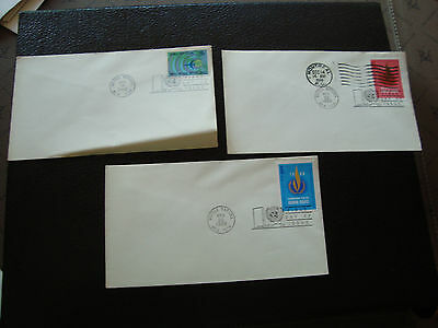 NATIONS-UNIES (new-york) - 3 enveloppes 1er jour 1968 (cy64) united nations