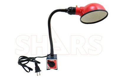 """OUT OF STOCK 90 DAYS Shars Work Lamp on Magnetic Base Flexible Arm 10.50"""" New"""