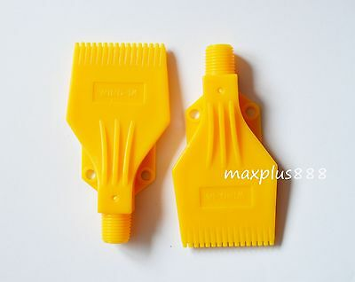 ABS Yellow Air Blower Air Nozzle Air Knife 1/4'' H2 air blowing comb type 2pcs