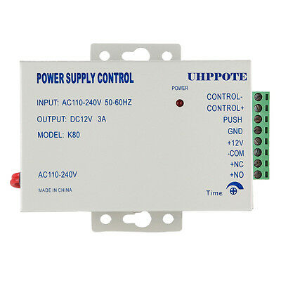 AC 110-240V to DC 12V 3A Power Supply For Door Access Control Worldwide Voltage