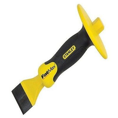 Stanley 418333 FatMax Masons Chisel 1.3/4 x 8.1/2-inch with Guard  NEUF