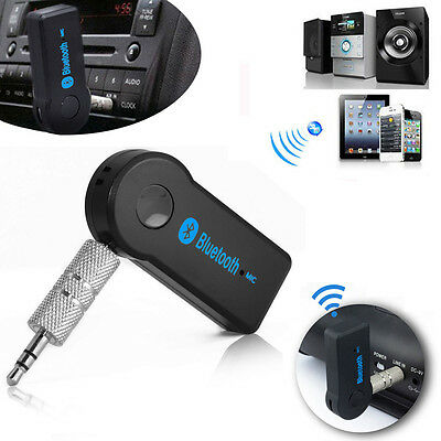 Bluetooth Wireless Audio Receiver 3.5mm AUX Music Car Radio Home Stereo Speaker