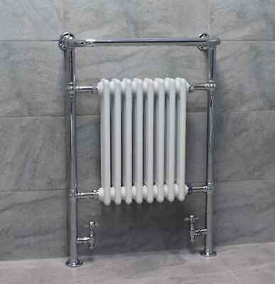 Traditional Victorian Heated Towel Rail Bathroom Radiator Including FREE Valves