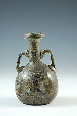 Lovely Roman Glass Flask with two handles