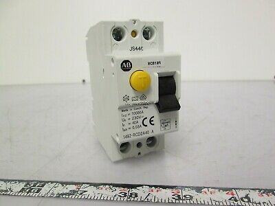 Allen Bradley 1492-RCD2A40 Residual Current Device 30mA 230VAC 1PH, 40Amp