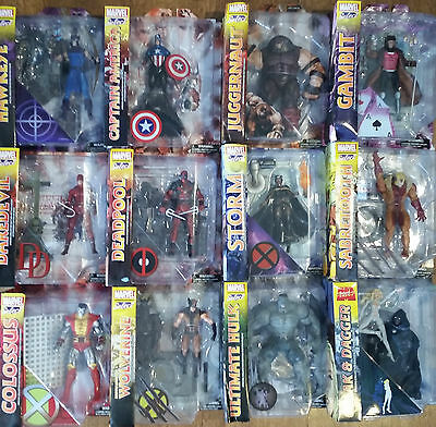 Marvel Diamond Select Collectable Action Figures Rare New Unopened Hulk Deadpool