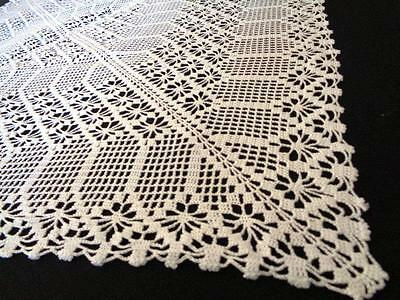 Crochet Tablecloth Square Table Runner Handmade  Lace Crochet Table Cover New