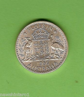 #c19. Quality 1956  Australian Silver Florin Two Shilling Coin