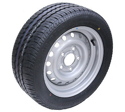 1 - 195/50 R13C 5 stud 112mm PCD Trailer wheel and tyre Wanda WR068 tyre
