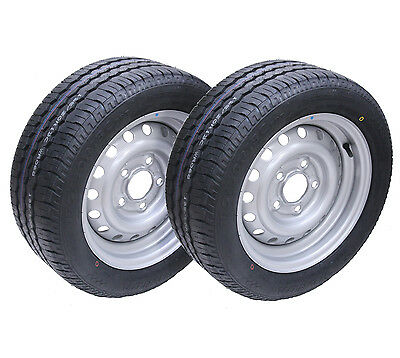 2 - 195/50 R13C 5 stud 112mm PCD Trailer wheel and tyre Wanda WR068 tyre