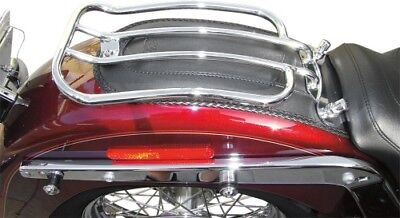 Motherwell Chrome 7 Solo Luggage Rack for 2005-2014 Harley Softail Models