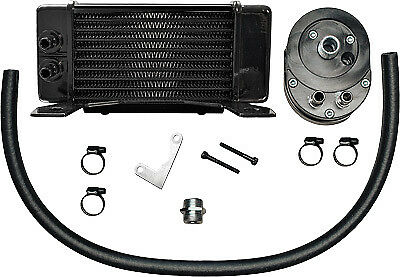 Jagg Oil Coolers Horizontal 10 Row Oil Cooler Black Low Mount 750-2300 - 47-5043