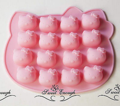 16 Cell Hello Kitty Mould Cake Jelly Chocolate Silicone Mold Decoration Soap