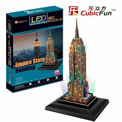 Puzzle Cubic Fun 38 Teile - Puzzle 3D mit LED  - Empire State Bui... (41333)