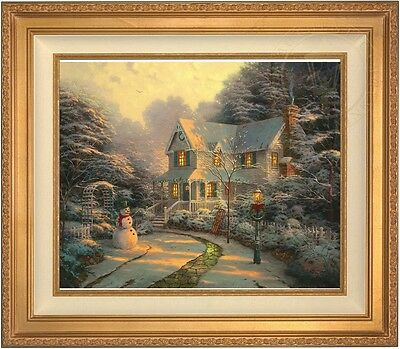 Thomas Kinkade The Night Before Christmas 20 x 24 LE S/N Canvas (Gold Frame)
