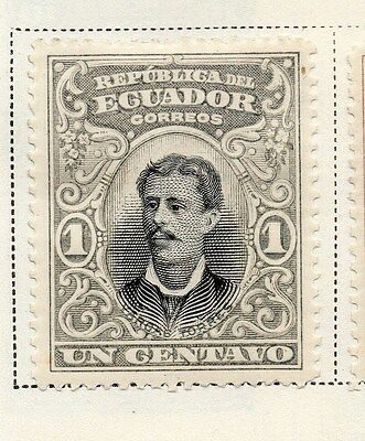 Ecuador 1899 Early Issue Fine Mint Hinged 1c. 145611