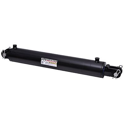 "Hydraulic Cylinder Welded Double Acting 4"" Bore 18"" Stroke Clevis End 4x18 NEW"