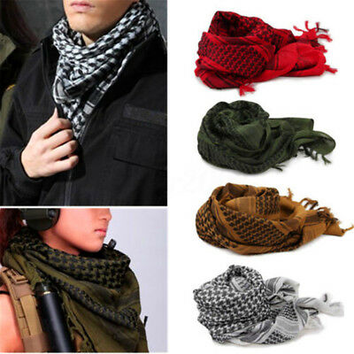 HOT Military Shemagh Arab Tactical Desert Shemagh KeffIyeh Scarf Neck Head Wrap