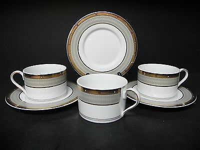 MIKASA FINE CHINA CAMBRIDGE Y0501 set of 3 CUPS WITH SAUCERS  ..