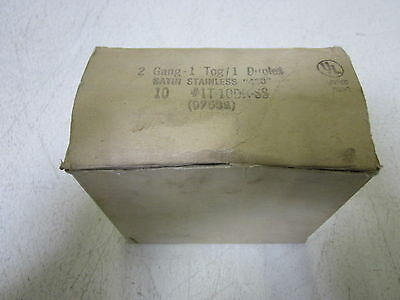 Lot Of 6 Mulberry 97532 2G Foggle Switch 1 Duplex Stainless Steel *new In Box*
