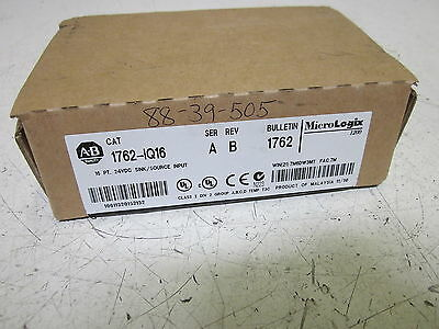 Allen Bradley 1762-1Q16 Series A Input Module *new In Box*