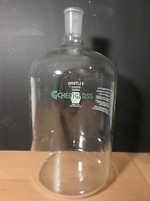 CHEMGLASS KIMAX Glass 4000mL 4L Media Storage Bottle 29/42 Outer JointCG-1126