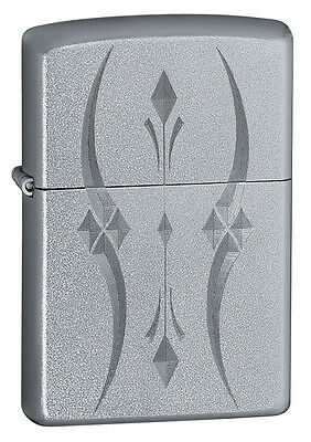 Zippo Windproof Satin Lighter, Pristine Curves, #  21155, New In Box