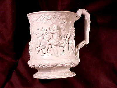 ENGLISH NEO-CLASSICAL MUG, CHARLES MEIGH, c1840 , AWARDED SOCIETY OF ARTS MEDAL
