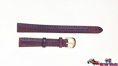 2 Sets 12mm Unisex Leather Watch Band Strap