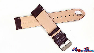 2 Sets 22mm Unisex Leather Watch Band Strap