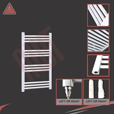600mm(w) x 800mm(h) Pre-filled Electric 150W Straight White Towel Rail Radiator
