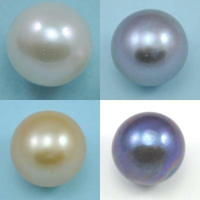9.5-10mm Half-drilled Round Freshwater Pearls AA