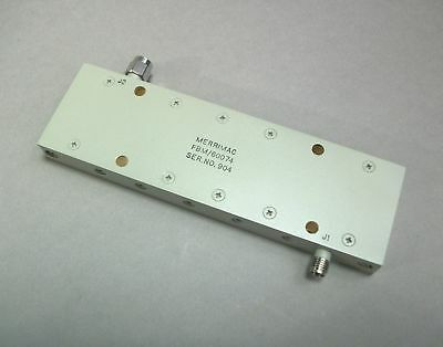 Merrimac Band Pass Filter FBM/60074 SMA M/F - New
