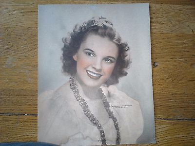 "Vintage Judy Garland  CLASSIC MGM Publicity Portrait 8"" x 10"""
