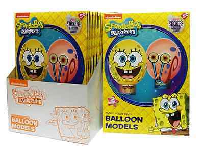 make your own sponge bob square pants & gary balloon models with stickers
